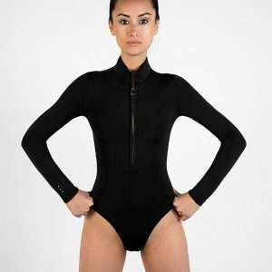 Surf Leotard Image 1- Model posing with fists on hips