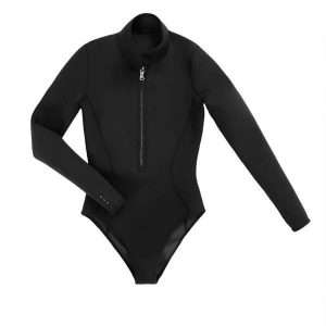 Sustainable Spring Shorty Wetsuit (flat lay) - Surf Leotard (Yulex)