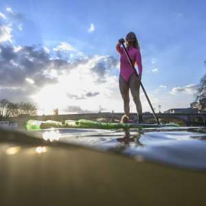 Alison Teal in SLO active Pink Yulex Wetsuit
